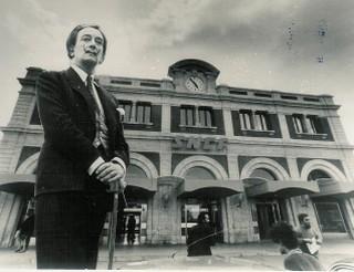 Dali devant la gare de Perpignan