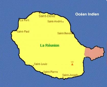 La Réunion - Terre gagnée sur la mer par le volcan