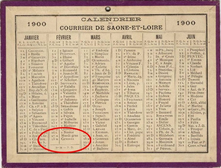 Almanach de l'année 1900