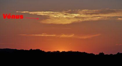 Vénus après le coucher du Soleil