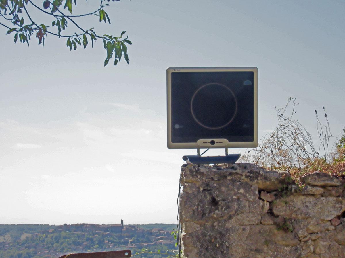 Eclipse annulaire du 1er septembre 2016 vue en direct depuis Cordes sur Ciel 06