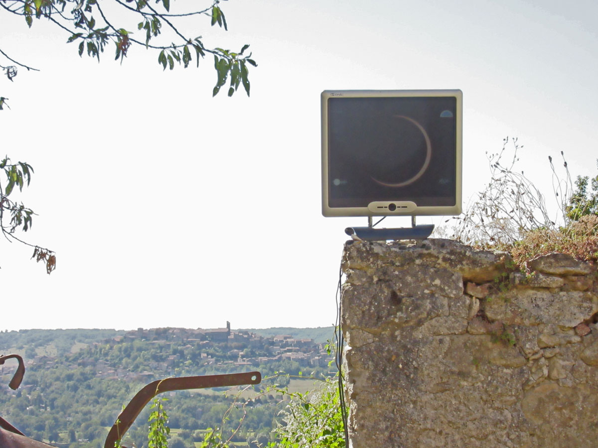 Eclipse annulaire du 1er septembre 2016 vue en direct depuis Cordes sur Ciel 08