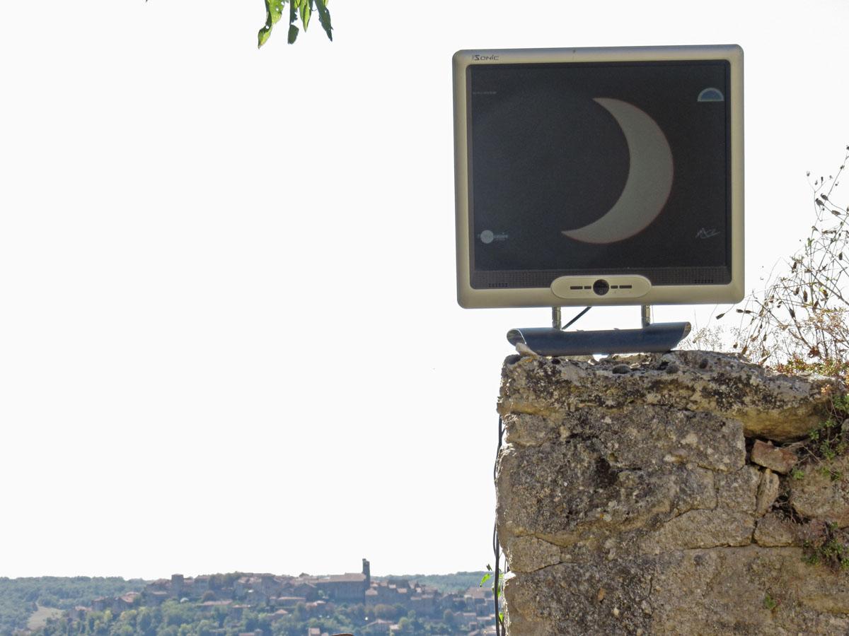 Eclipse annulaire du 1er septembre 2016 vue en direct depuis Cordes sur Ciel 10