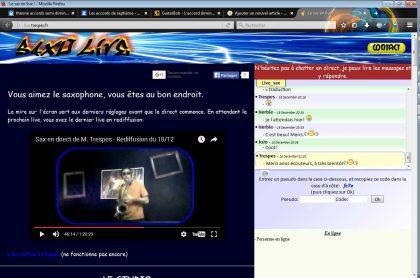 Live sax on line sur live.trespes.fr