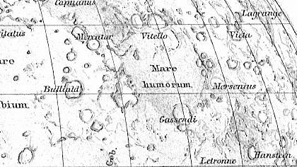 Carte de la Lune - Cratère Gassendi