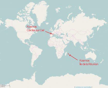 Kosmos, de la Réunion à Cores sur Ciel