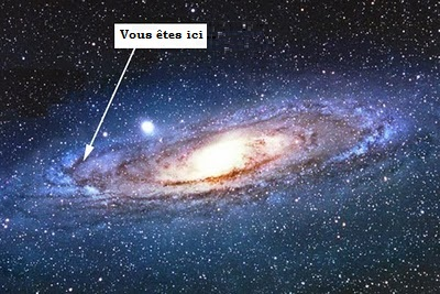 Vous êtes ici, dans la galaxie.
