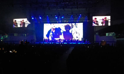IAC 2018 Bremen - Spectacle ouverture - Video Pesquet et orchestre