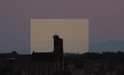 Comparatif réfraction Pyrénées 2 hauteurs à Cordes sur Ciel
