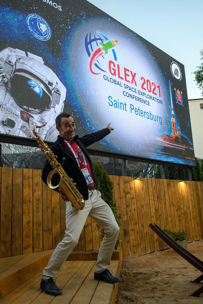Pierrot Déhaut et son saxophone au GLEX 2021