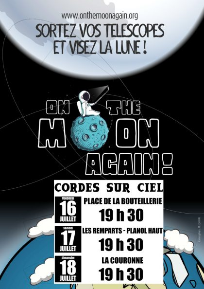 Affiche On the Moon again 2021