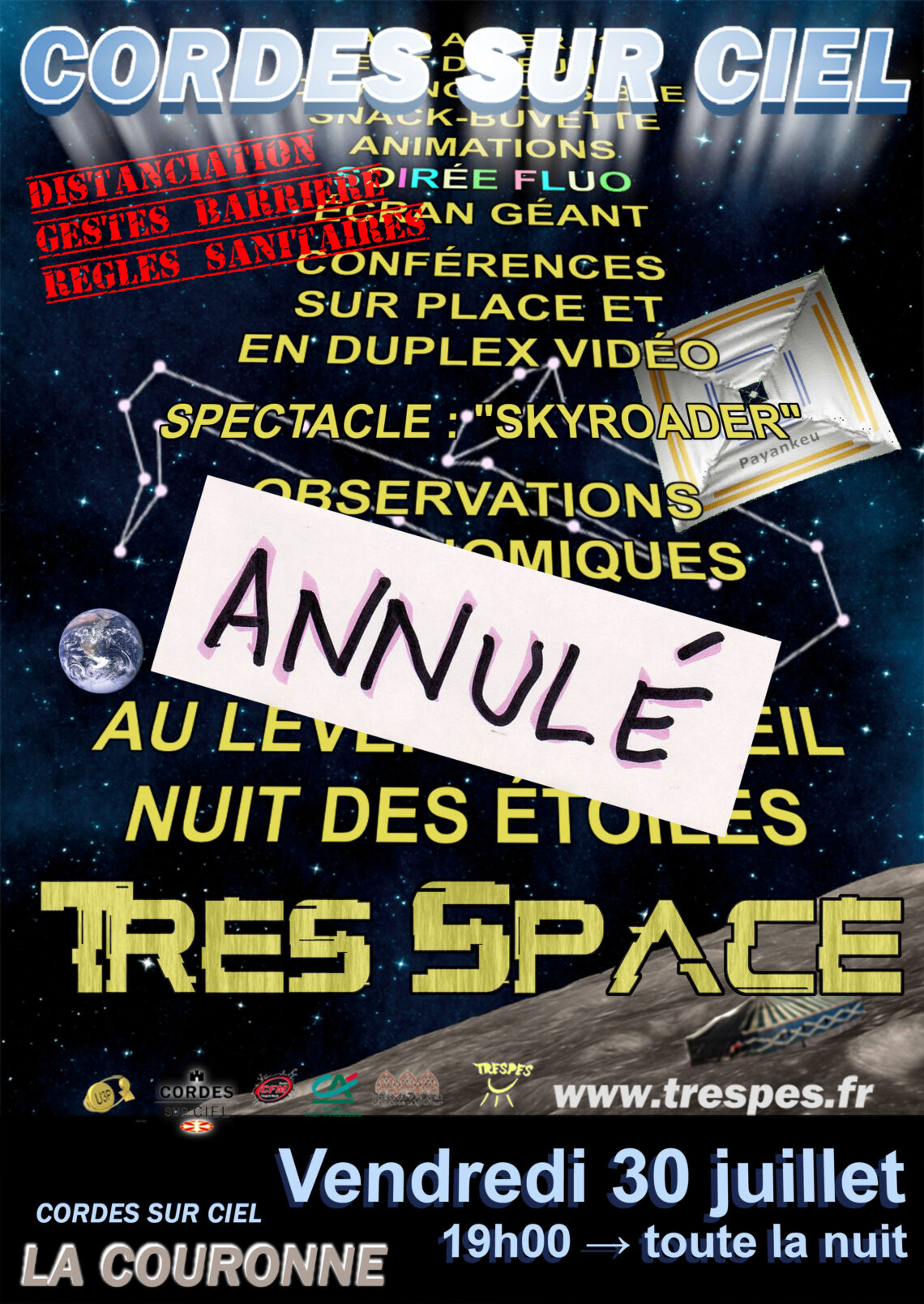 Affiche Très Space 2021 annulé